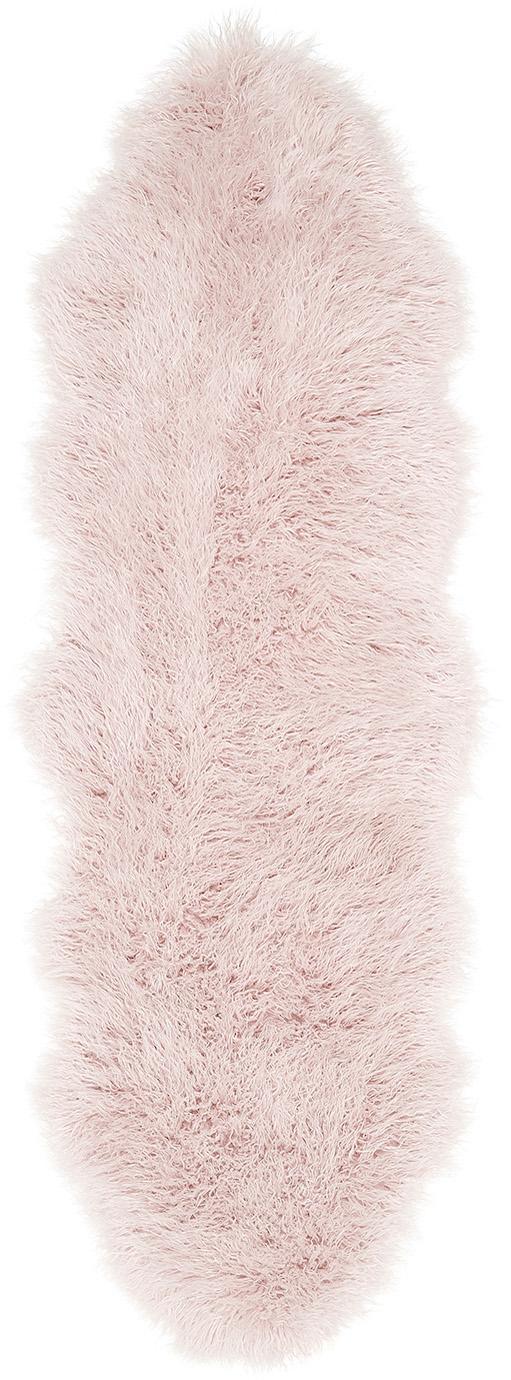 Tappeto in similpelle Morten, Retro: poliestere, Rosa, Larg. 60 x Lung. 180 cm