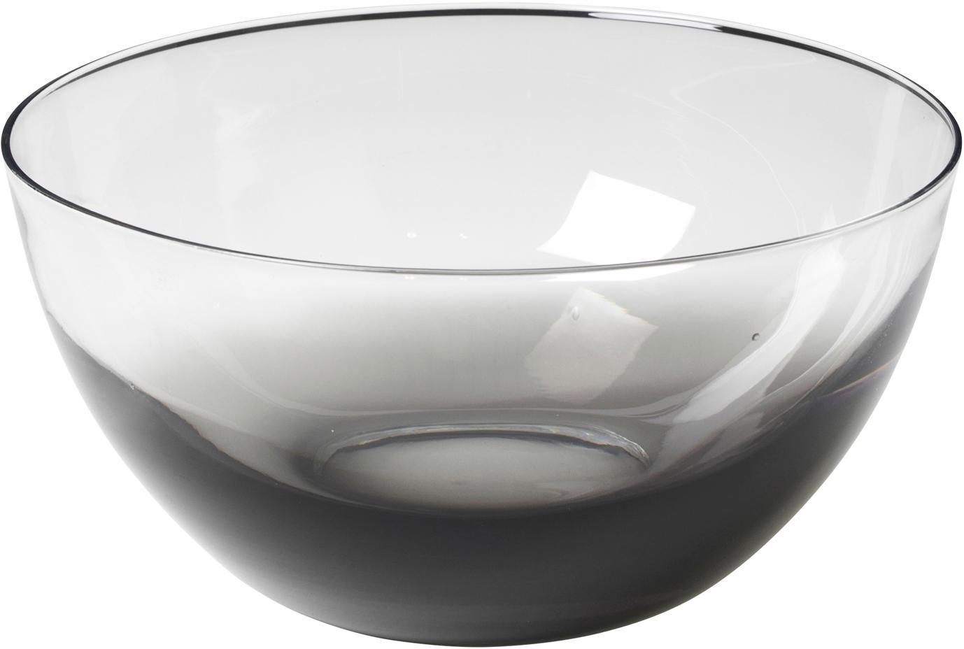 Ensaladera de vidrio soplado Smoke, Vidrio, Gris oscuro, transparente, Ø 25 x Al 12 cm
