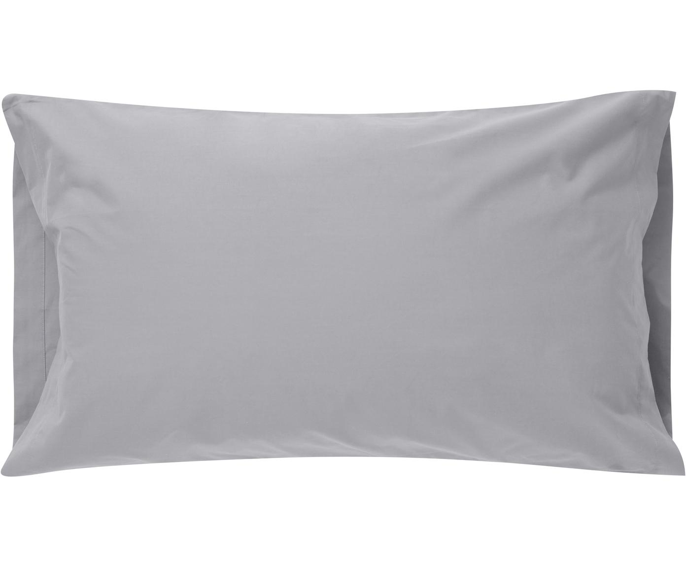 Funda de almohada Plain Dye, Algodón, Gris, An 50 x L 110 cm