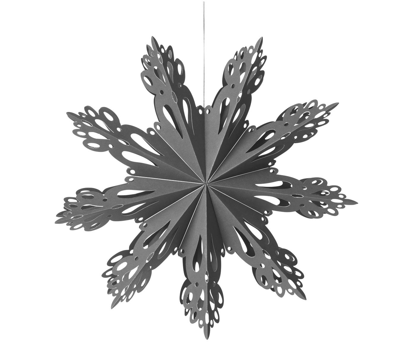 XL-kerstboomhanger Snowflake, Papier, Grijsblauw, Ø 30 cm