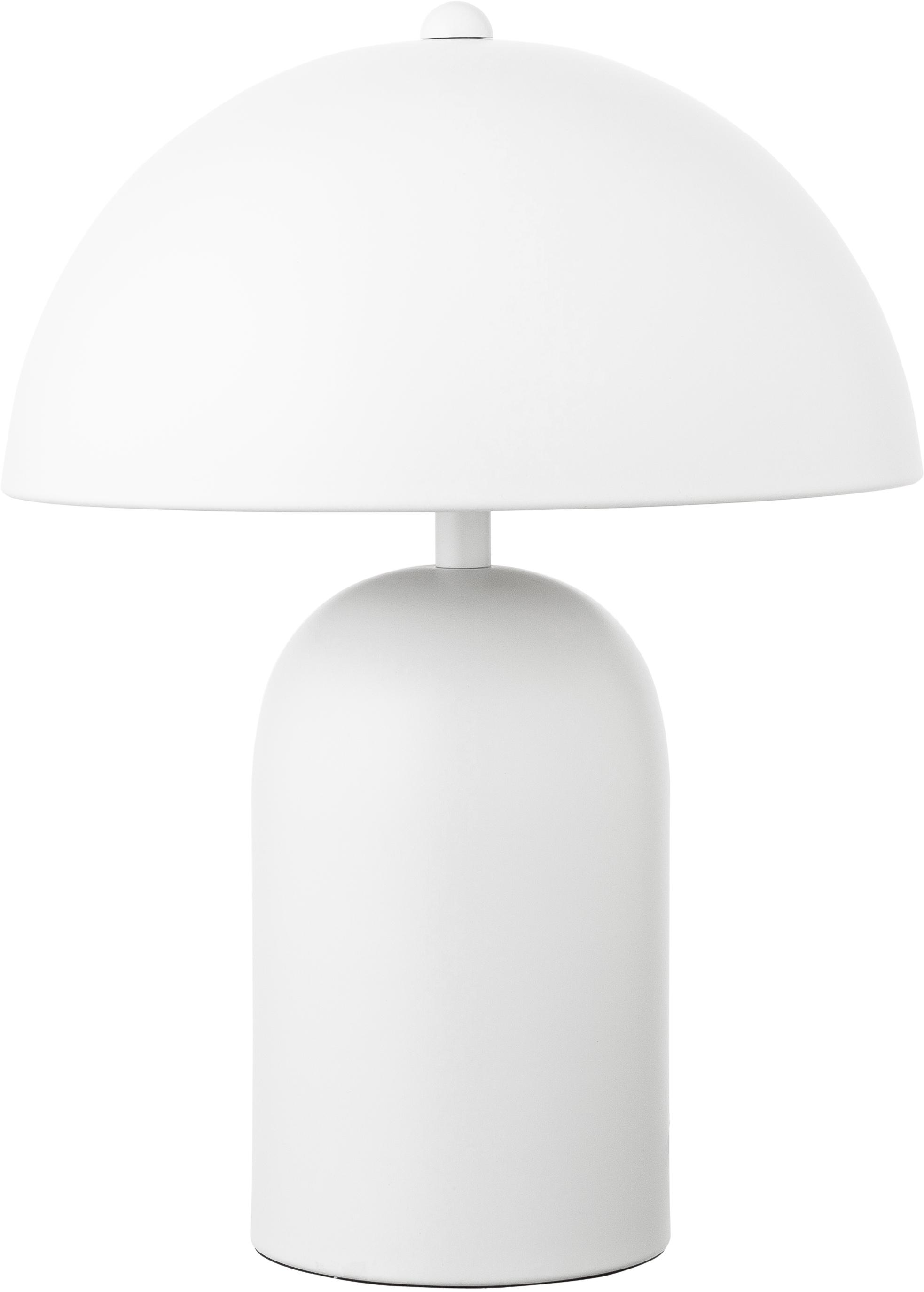 Retro-Tischlampe Walter, Lampenschirm: Metall, Lampenfuß: Metall, Mattweiß, Ø 25 x H 33 cm