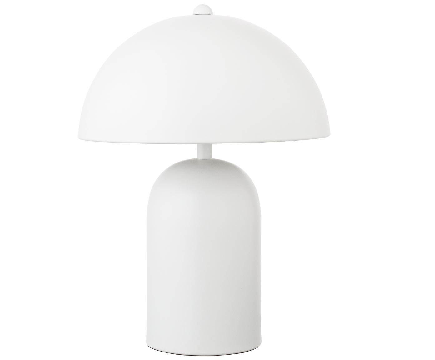 Lámpara de mesaWalter, estilo retro, Pantalla: metal, Blanco mate, Ø 25 x Al 33 cm