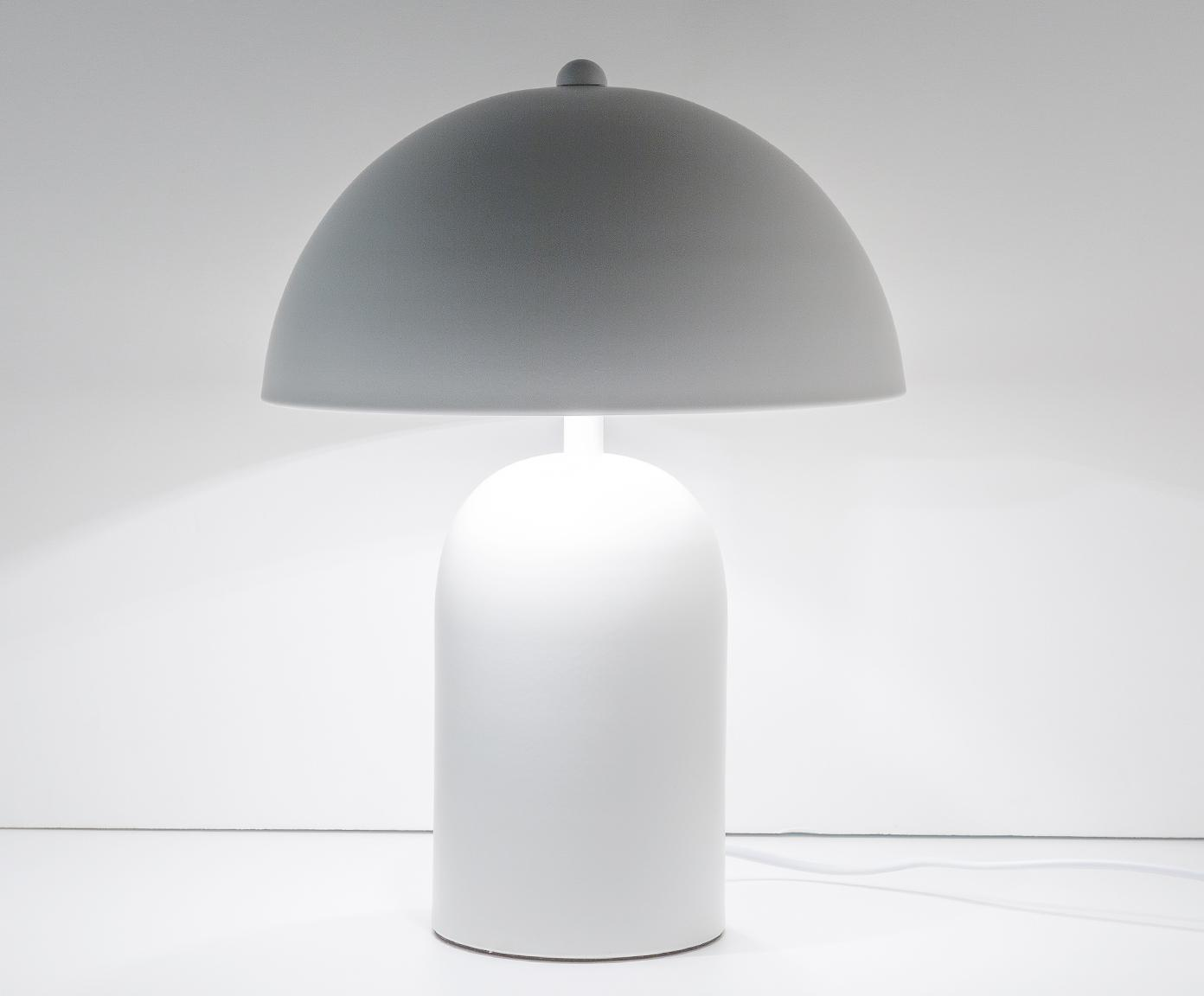 Tafellamp Walter, Lampenkap: metaal, Lampvoet: metaal, Mat wit, Ø 25 x H 33 cm