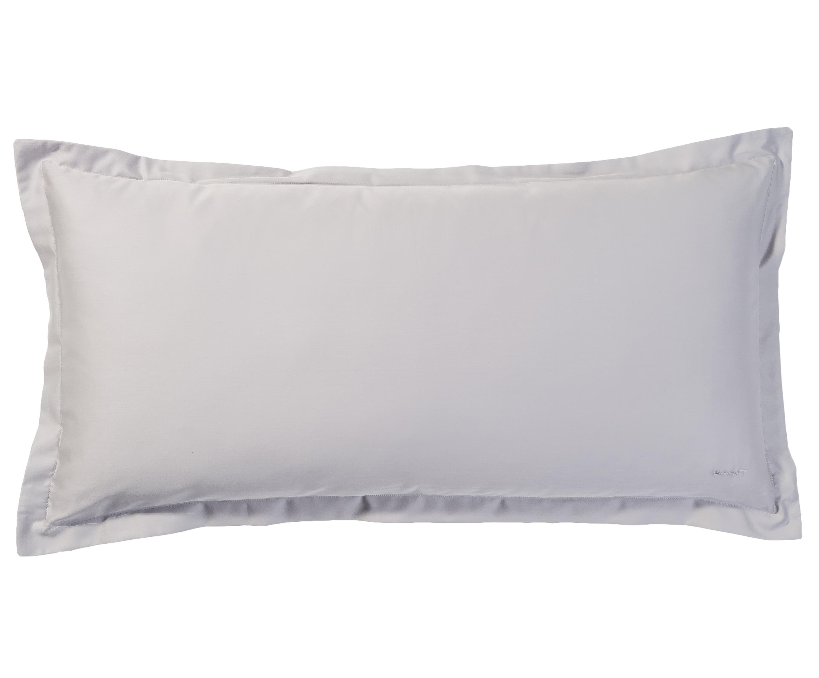 Poszewka na poduszkę z satyny bawełnianej Sateen, Szary, S 40 x D 80 cm