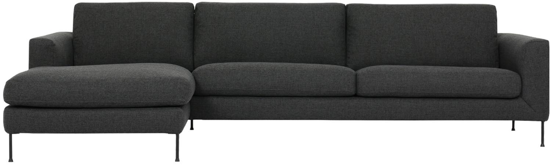 Sofá rinconero Cucita (4plazas), Tapizado: tejido (poliéster) 45.000, Estructura: madera de pino maciza, Tejido gris antracita, An 302 x F 163 cm