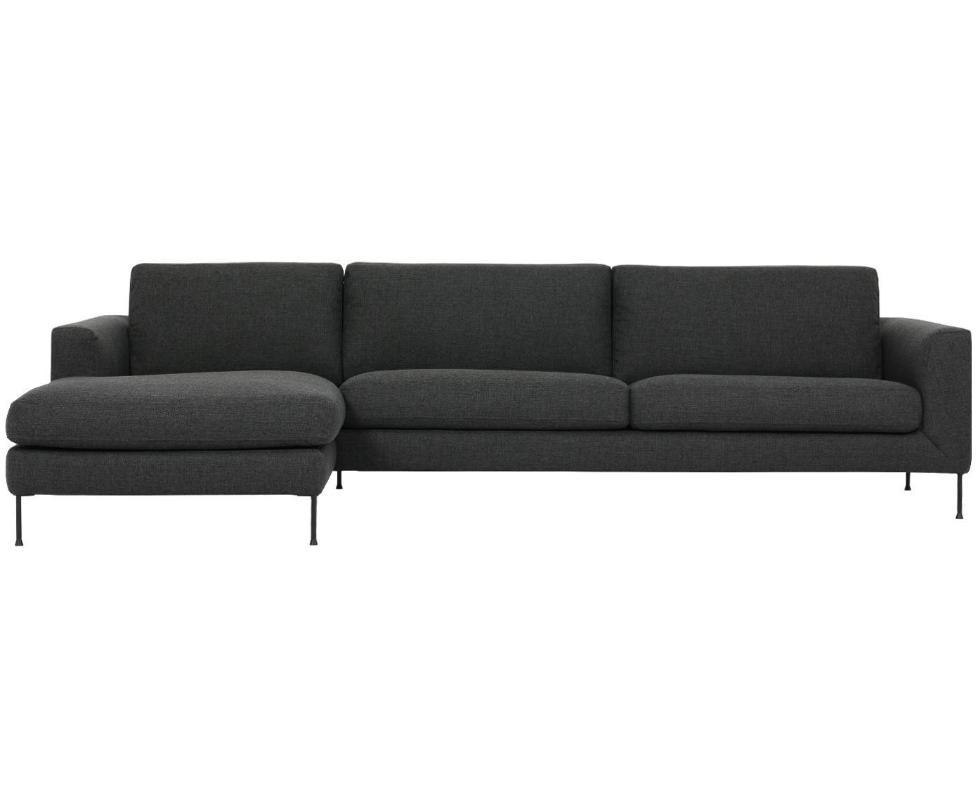 Ecksofa Cucita (4-Sitzer), Bezug: Webstoff (Polyester) 45.0, Gestell: Massives Kiefernholz, Webstoff Anthrazit, B 302 x T 163 cm