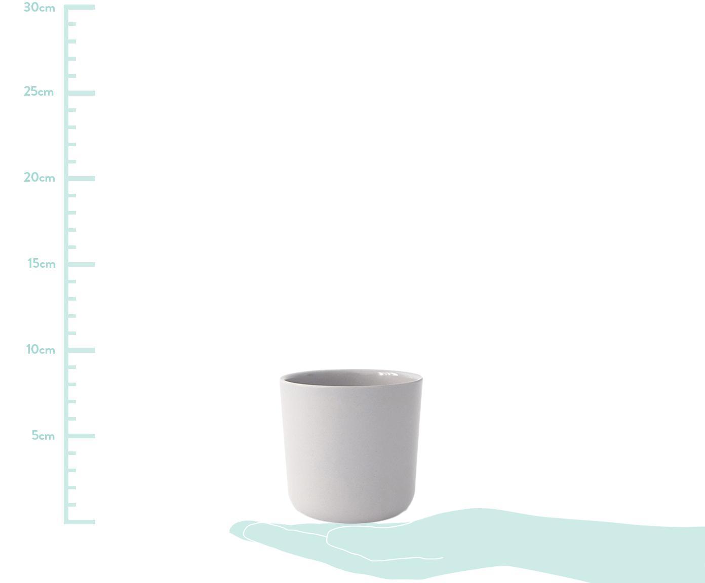 Becher-Set Bambino, 4-tlg., Bambusfasern, Melamin, lebensmittelecht BPA, PVC und Phthalate frei, Lachsfarben, Hellgrau, Grau, Terrakottarot, 250 ml