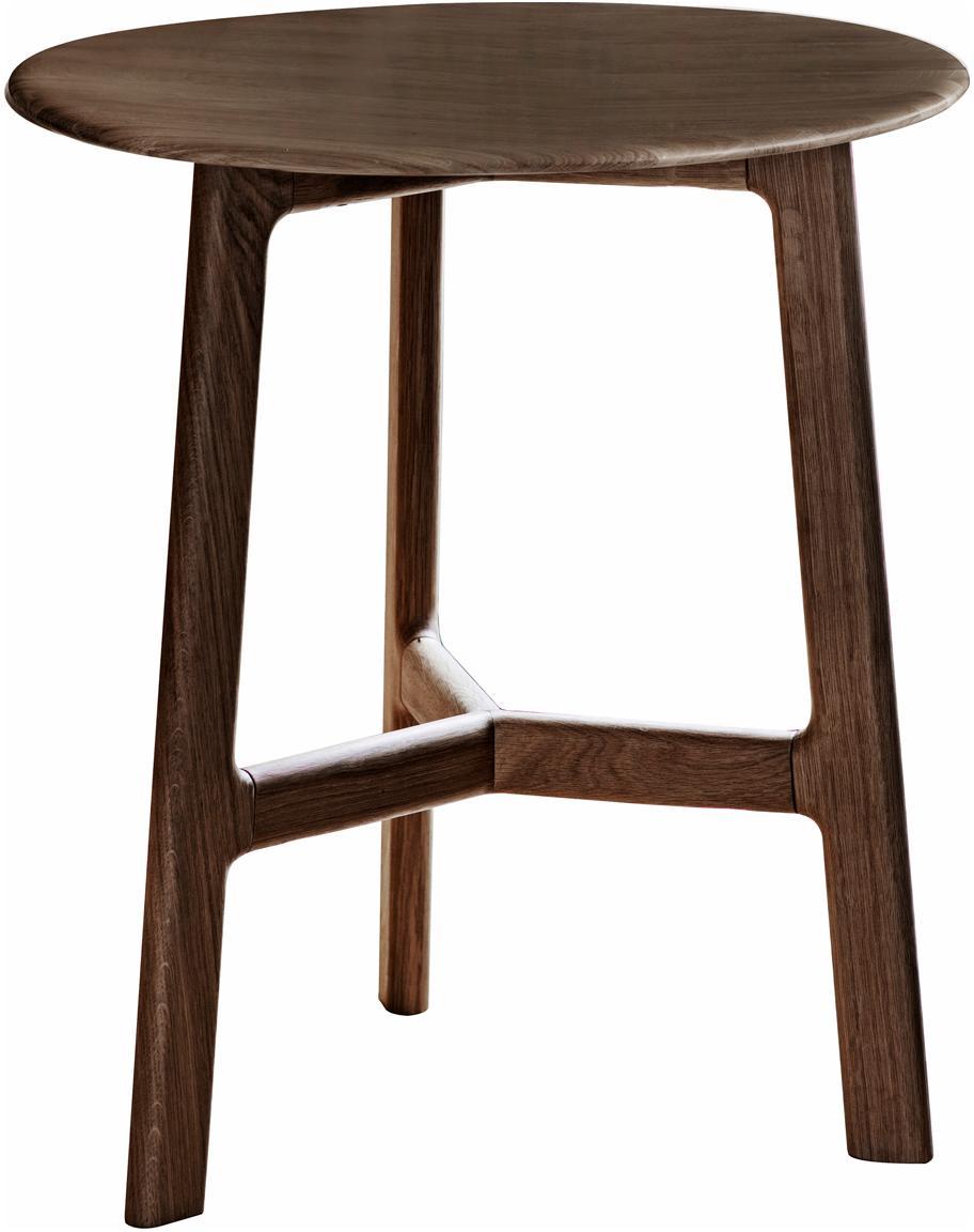 Tavolino rotondo in legno di noce Madrid, Legno di noce, Legno di noce, Ø 50 x Alt. 58 cm