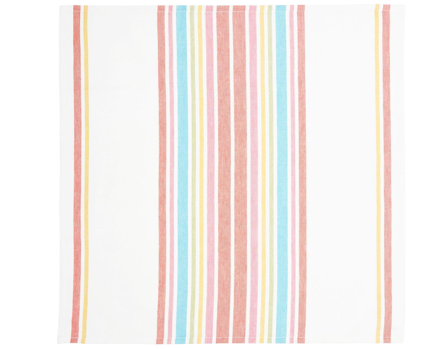 Baumwoll-Servietten Katie, 2 Stück, Baumwolle, Mehrfarbig, 50 x 50 cm
