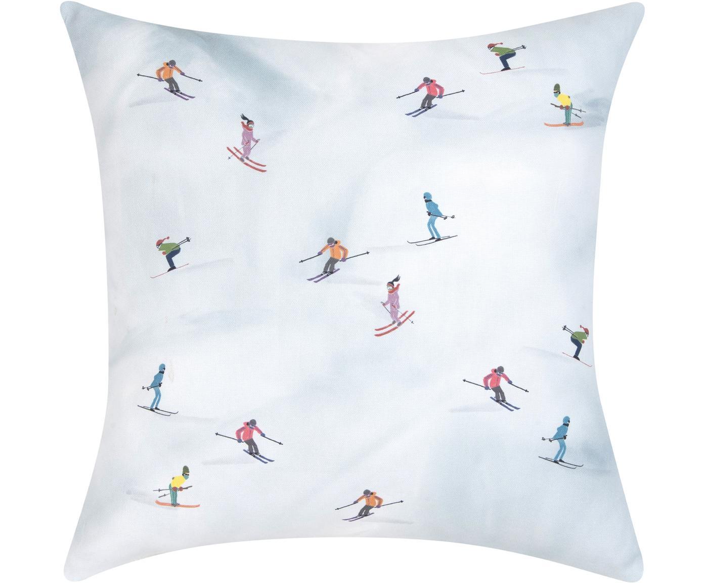Designer Kissenhülle Ski von Kera Till, 100% Baumwolle, Mehrfarbig, 40 x 40 cm