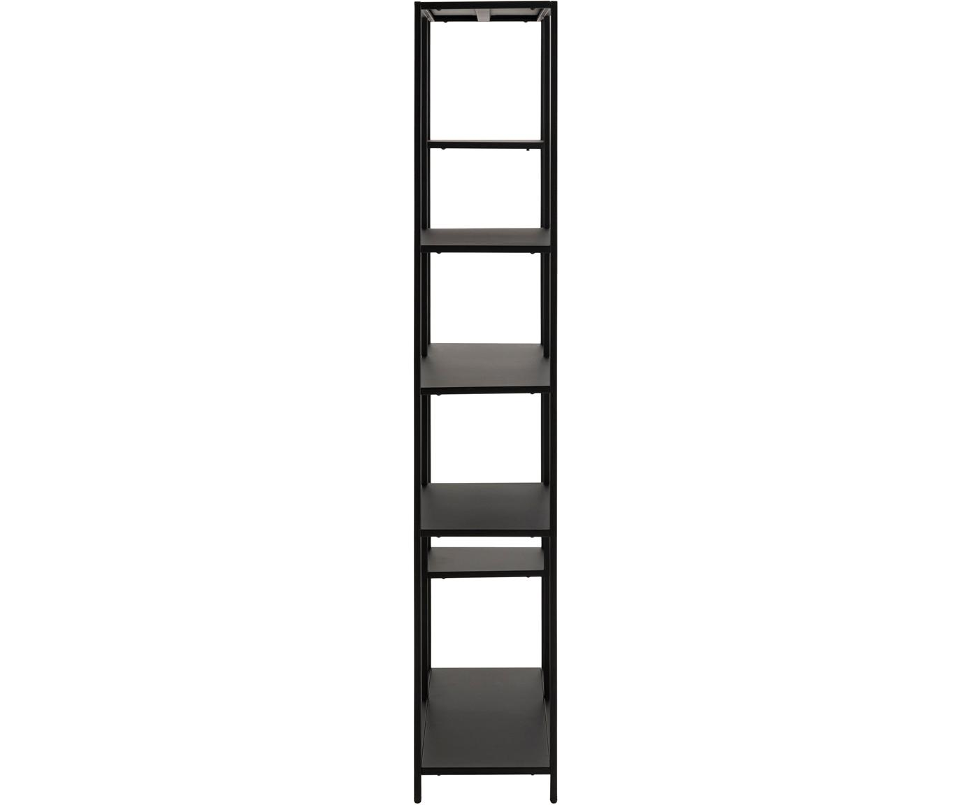 Regał z metalu Newton, Metal malowany proszkowo, Czarny, S 80 x W 160 cm