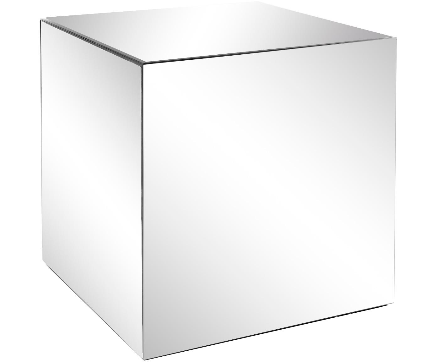 Mesa auxiliar de espejos Luxury, Estructura: tablero de fibras de dens, Superficie: espejo de cristal, Espejo de cristal, An 45 x F 45 cm