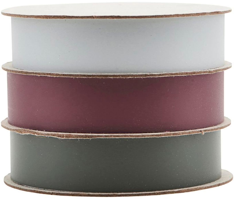 Geschenkbänder-Set Polly, 3-tlg., Kunststoff, Weiß, Rot, Grün, L 1000 cm