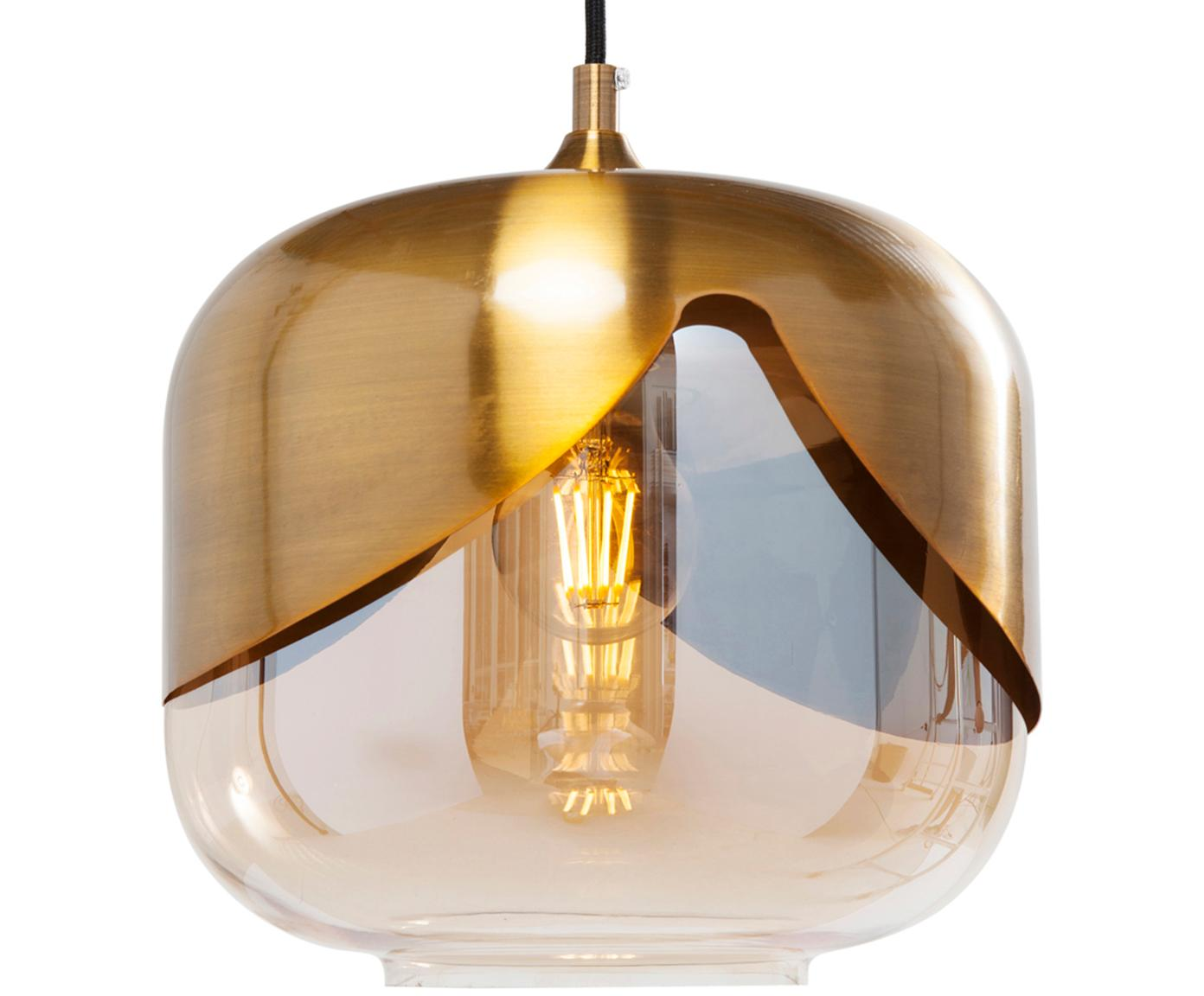 Lámpara de techo Golden Goblet, Pantalla: vidrio tintado, Cable: cubierto en plástico, Latón, Ø 25 x Al 25 cm