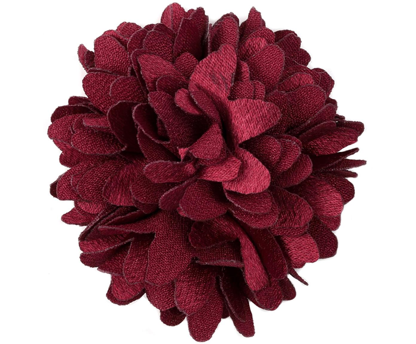 Deko-Blumen Flor, 6 Stück, Polyester, Rot, Ø 6 cm