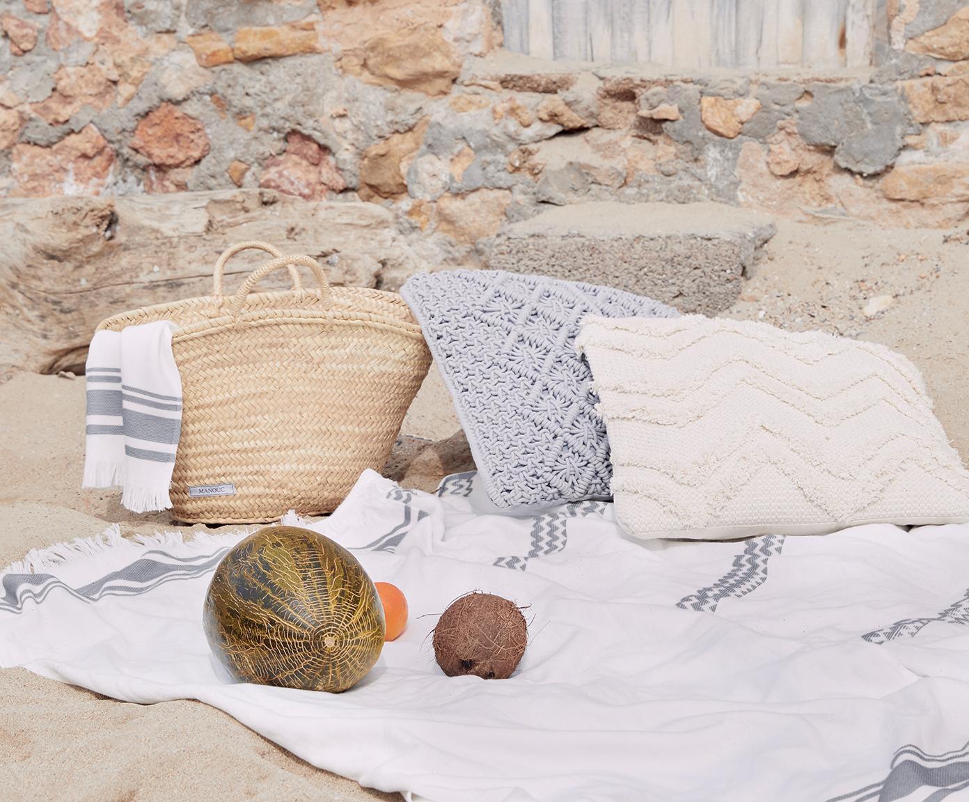 Komplet ręczników Ella, 3 elem., 100% bawełna Niska gramatura 400 g/m², Biały, ciemnyszary, Różne rozmiary