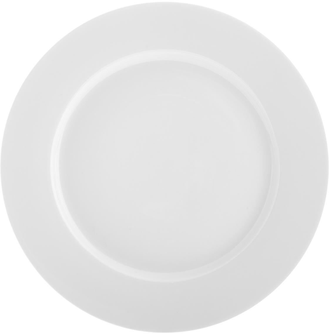 Talerz śniadaniowy Delight Classic, 2 szt., Porcelana, Biały, Ø 23 cm