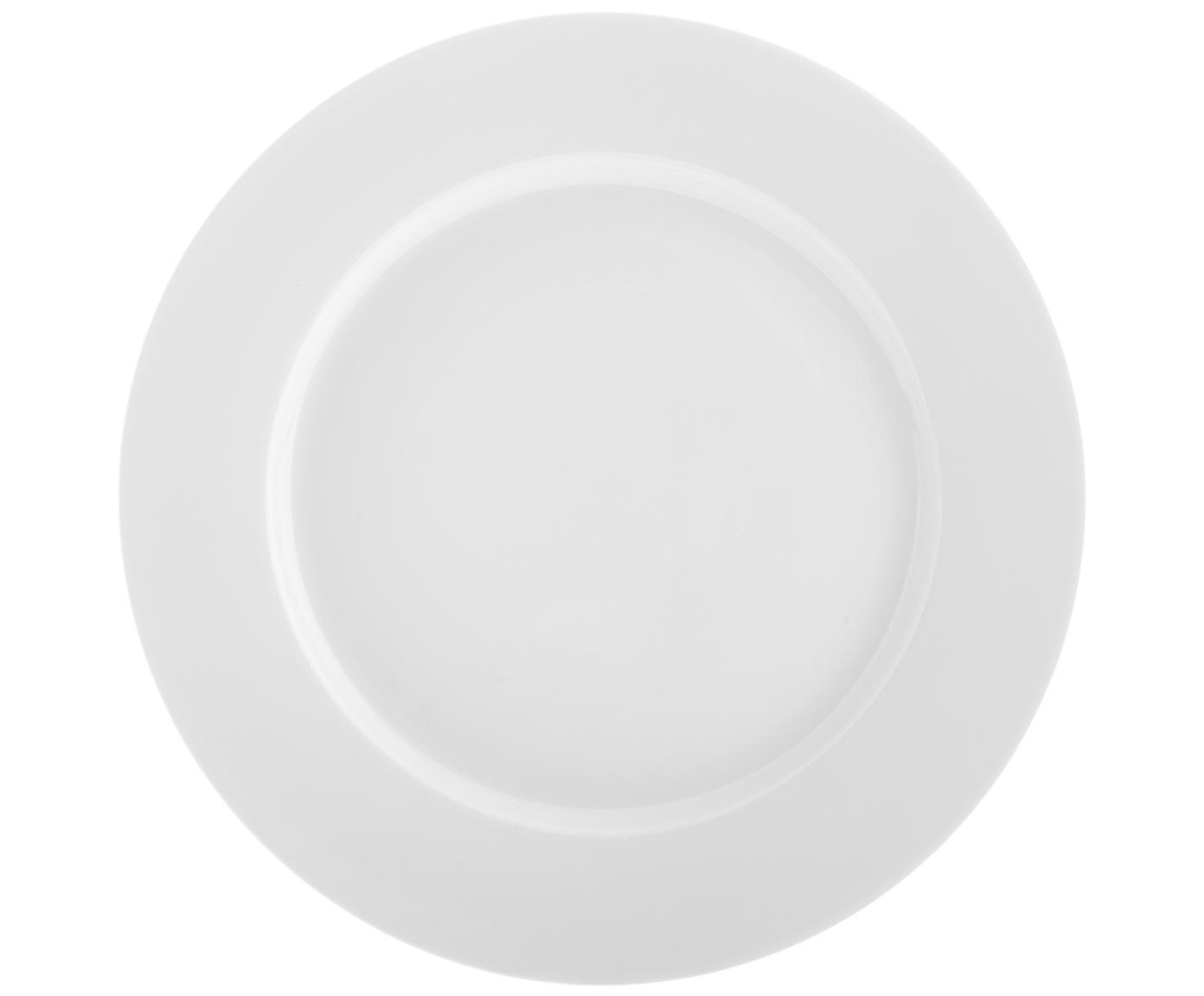Platos de postre Delight Classic, 2uds., Porcelana, Blanco, Ø 23 cm