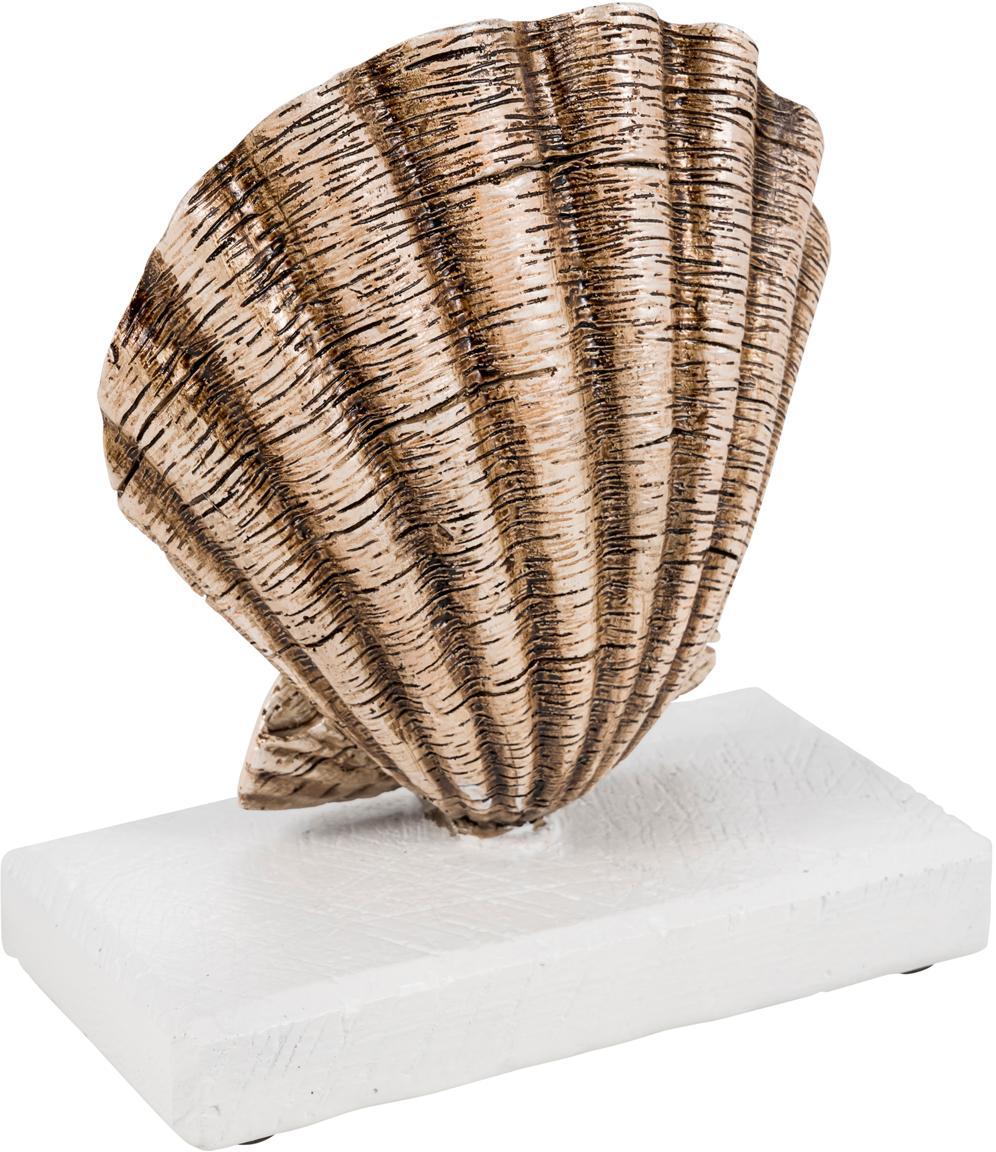 Deko-Objekt Adore, Polyresin, Beige, Weiss, 16 x 18 cm