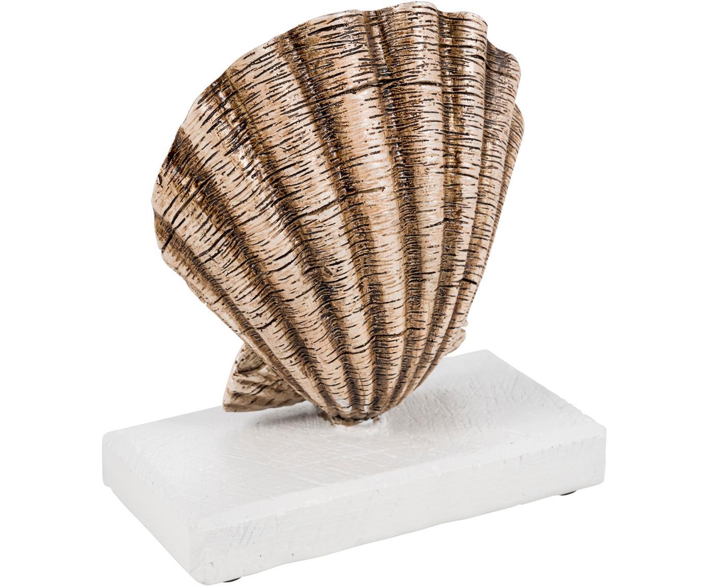 Decoratief object Adore, Polyresin, Beige, wit, 16 x 18 cm