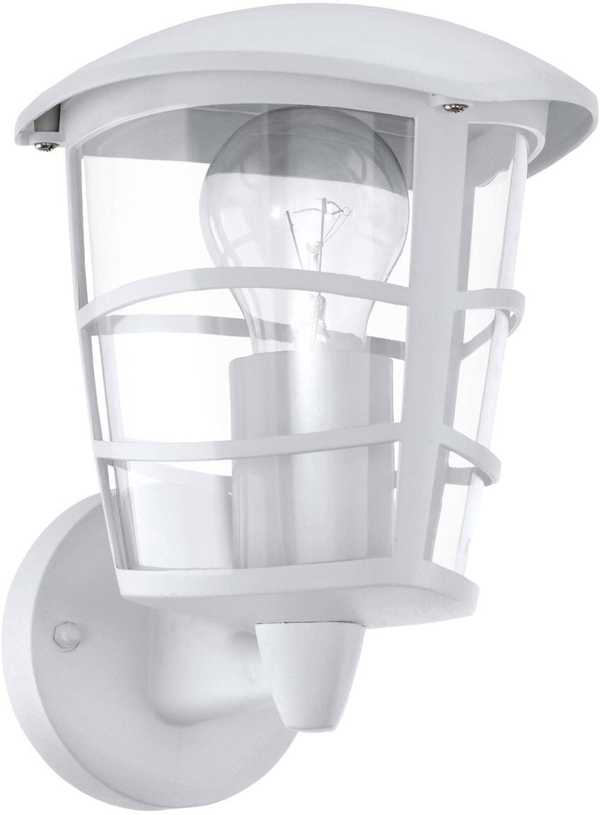 Aussenwandleuchte Aloria, Lampenschirm: Kunststoff, Weiss, 17 x 23 cm