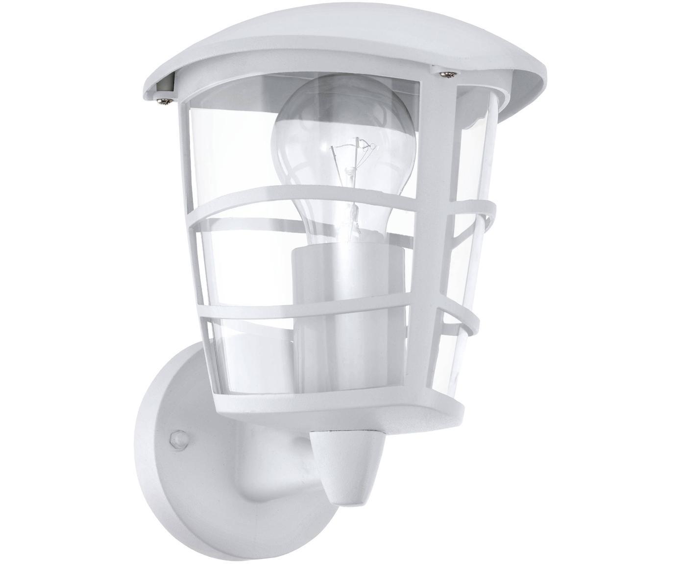 Aplique para exterior Aloria, Pantalla: plástico, Estructura: aluminio, Fijación: aluminio, Blanco, An 17 x F 23 cm