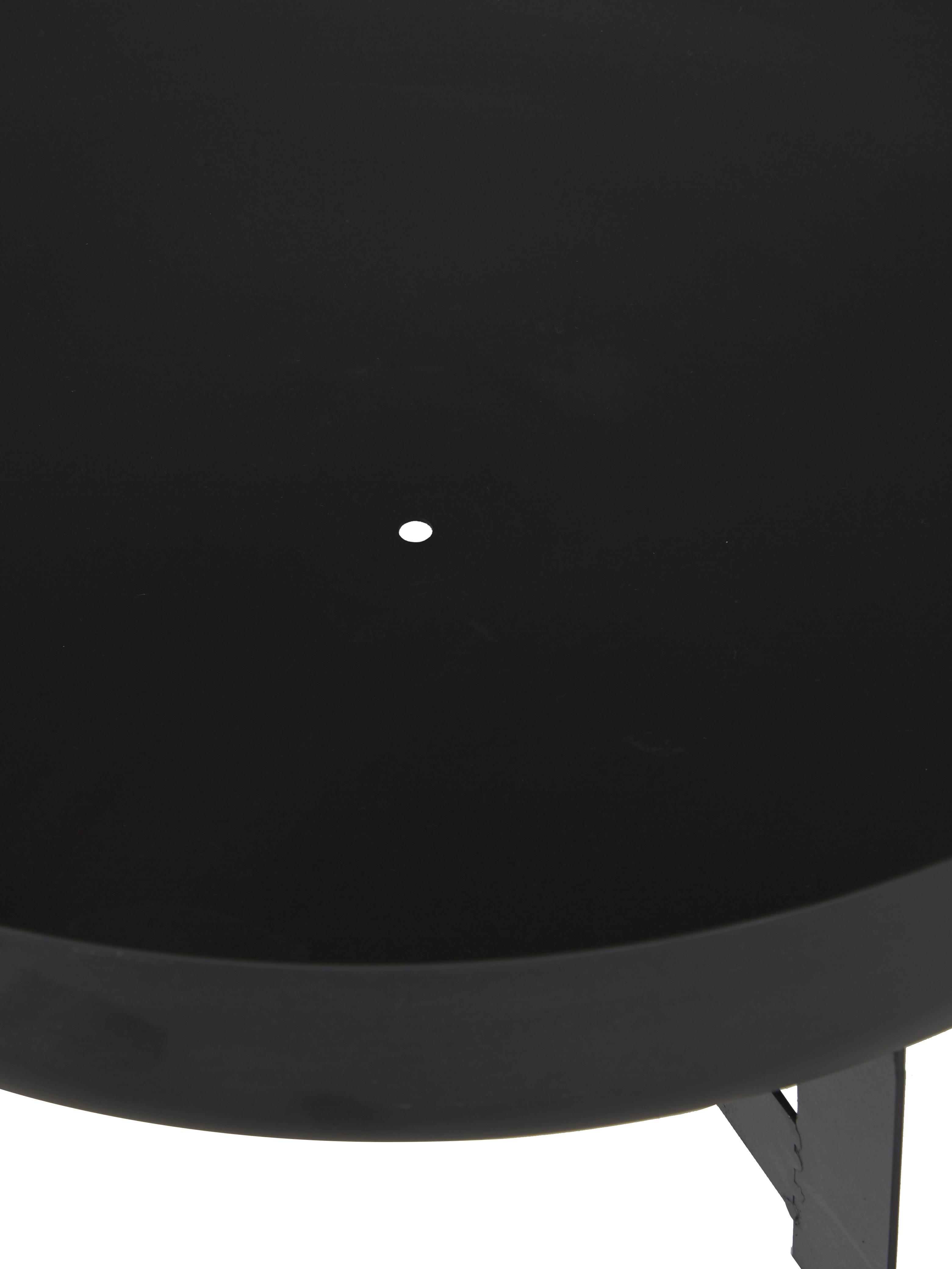 Ciotola Efesto, Acciaio, verniciato a polvere, resistente alle alte temperature, Nero, Ø 60 x Alt. 24 cm