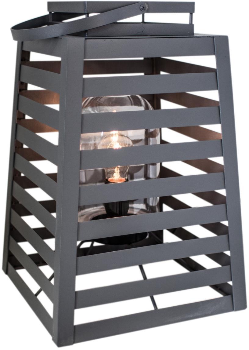 Außenstehleuchte Yankton in Laternenform, Leuchte: Metall, pulverbeschichtet, Grau, 30 x 60 cm