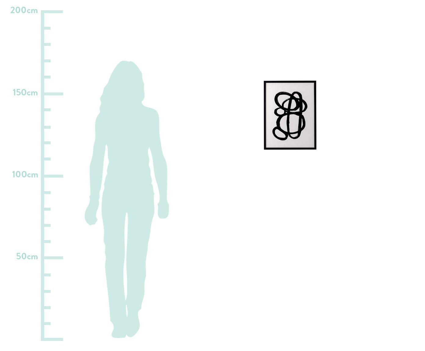 Impresión digital enmarcada Doris, Fotografía: impresión digital sobre p, Negro, An 32 x Al 42 cm