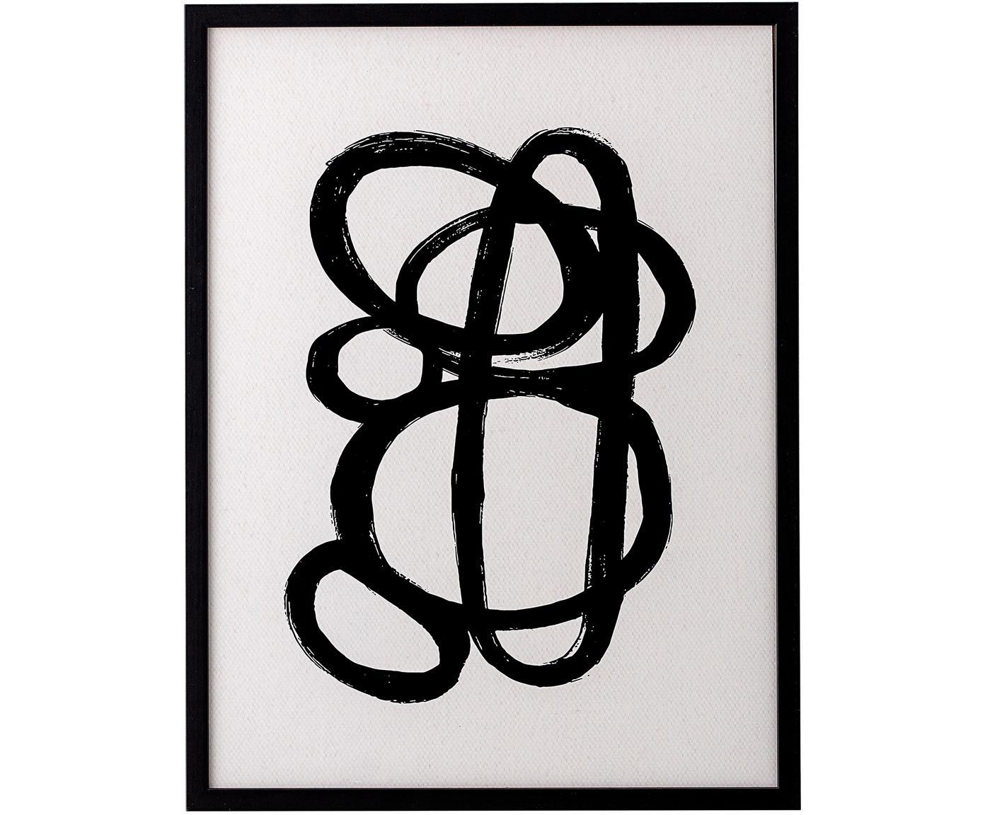 Oprawiony druk cyfrowy Doris, Czarny, S 32 x W 42 cm