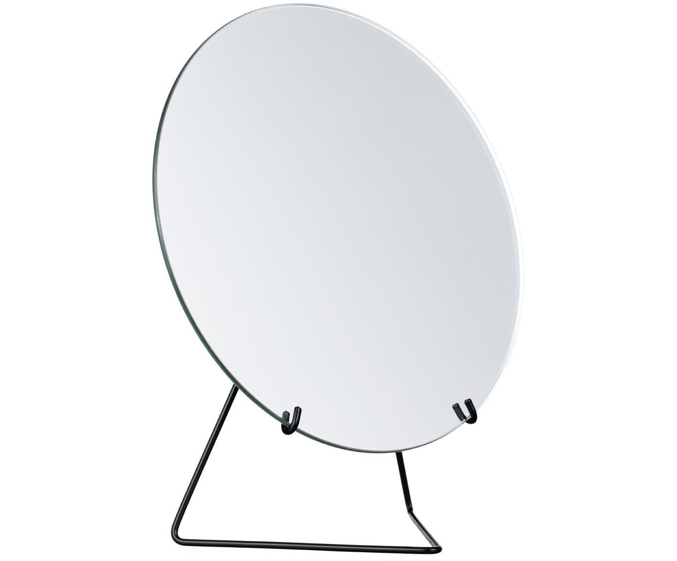 Specchio cosmetico Standing Mirror, Cornice: acciaio, verniciato a pol, Struttura: nero Specchio: lastra di vetro, L 20 x A 23 cm