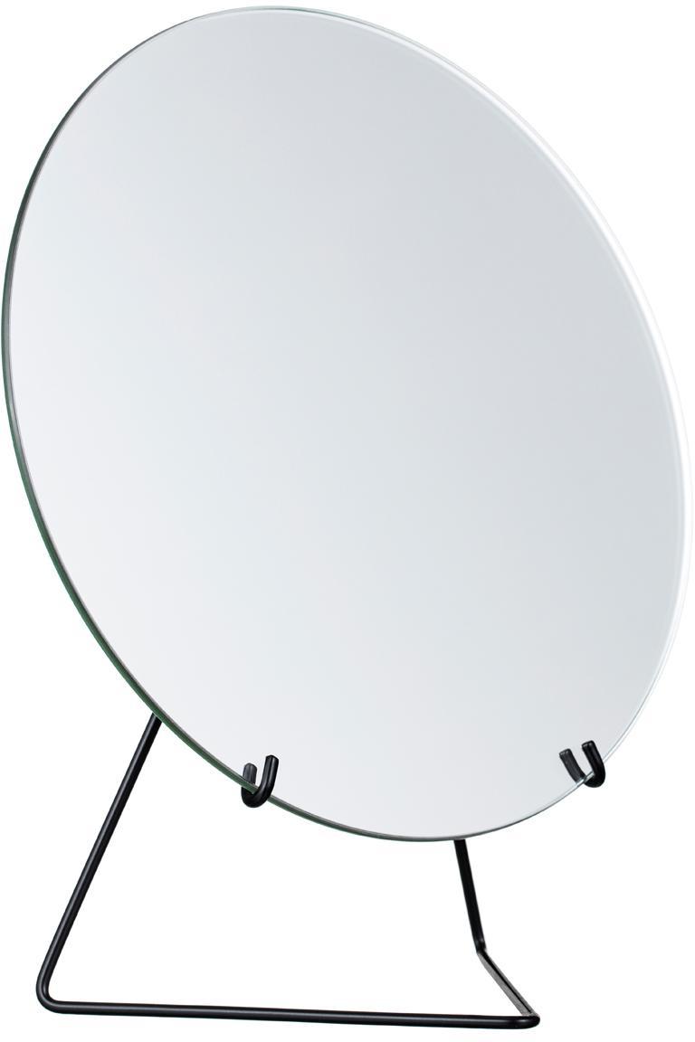 Make-up spiegel Standing Mirror, Frame: gepoedercoat staal, Frame: zwart. Spiegel: spiegelglas, 20 x 23 cm