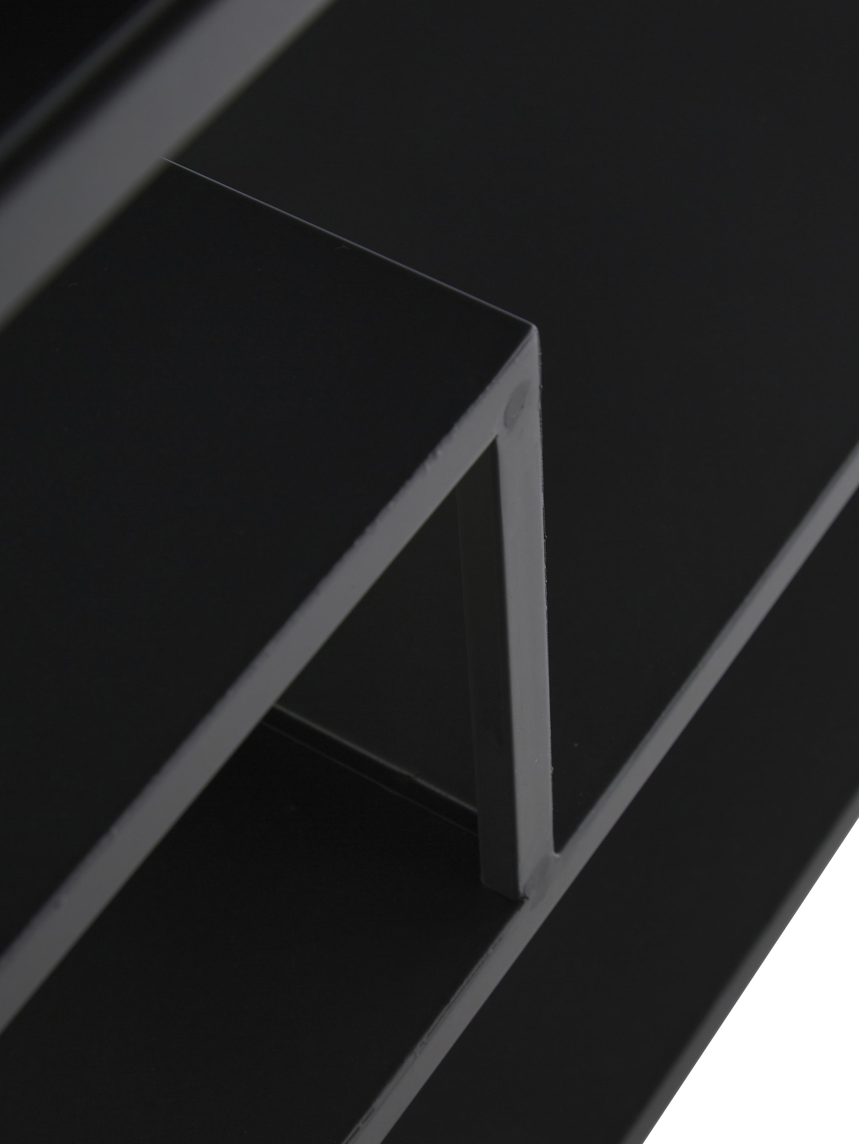 Metall-Schuhregal Bum mit Schirmständer, Metall, pulverbeschichtet, Schwarz, 85 x 59 cm