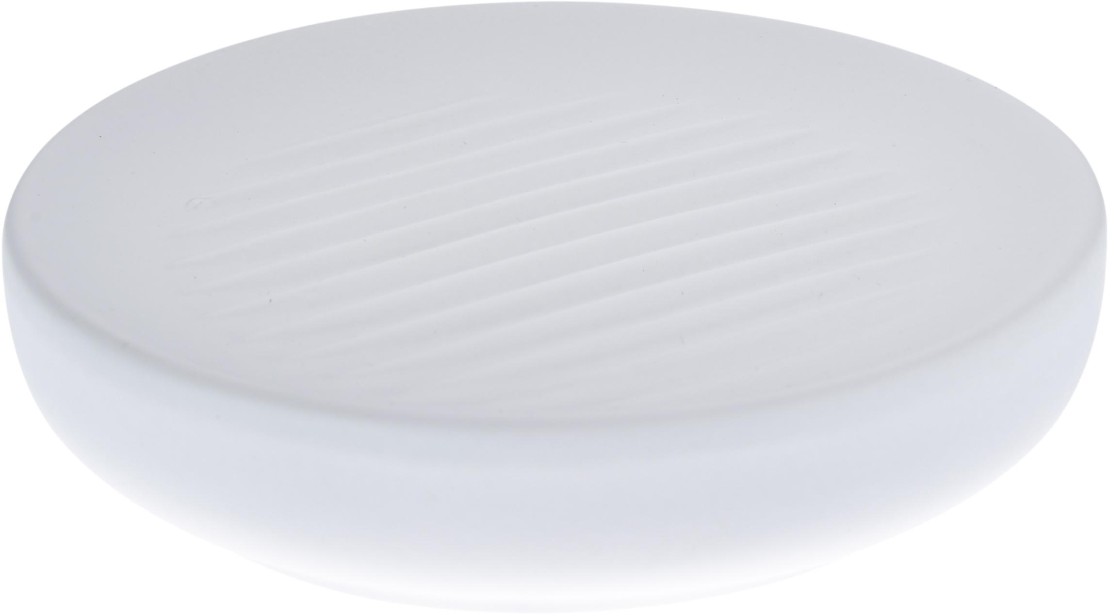 Jabonera Ume, Porcelana, Blanco, Ø 12 x Al 3 cm