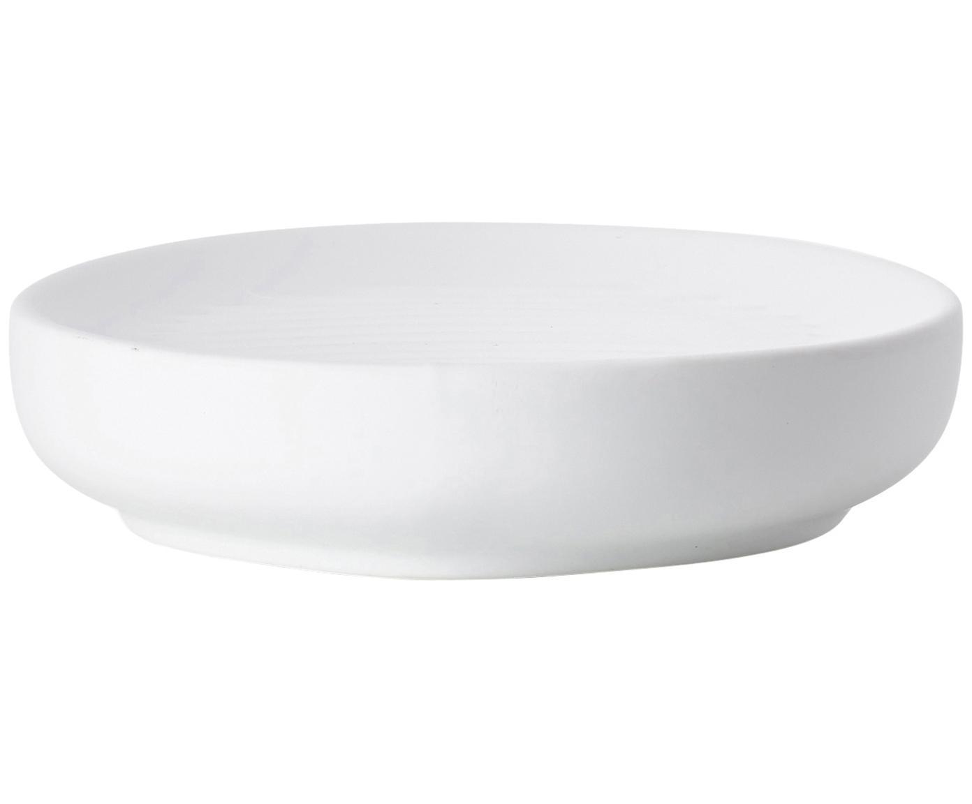 Porzellan-Seifenschale Ume, Porzellan, Weiß, Ø 12 x H 3 cm