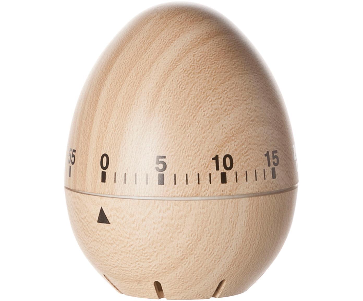 Timer do jajek Ernesto, Drewno naturalne, Beżowy, czarny, Ø 6 x W 8 cm