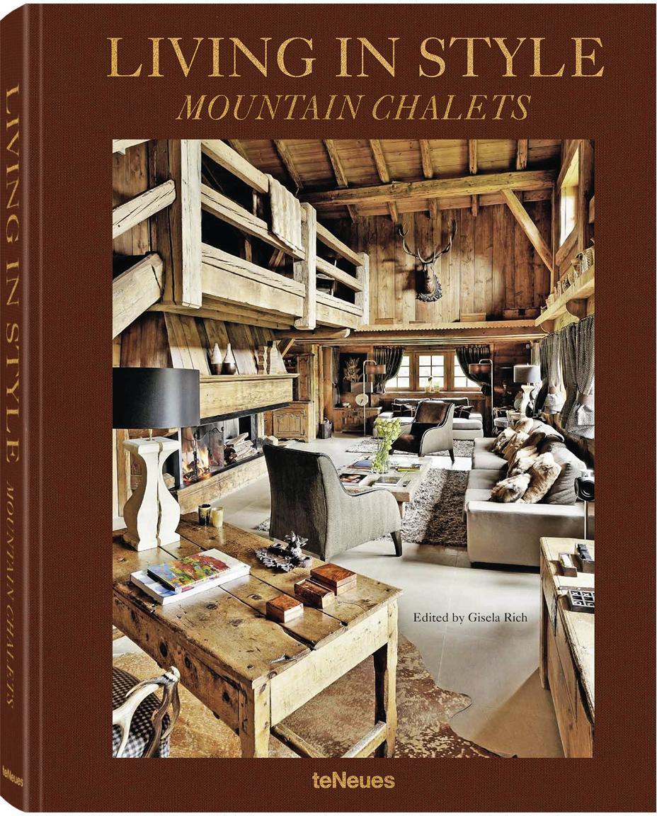 Geïllustreerd boek Living In Style - Mountain Chalets, Papier, hardcover, Multicolour, 25 x 32 cm