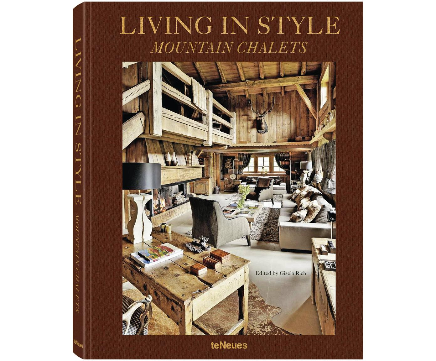 Album Living in Style - Mountain Chalets, Papier, twarda okładka, Wielobarwny, D 32 x S 25 cm