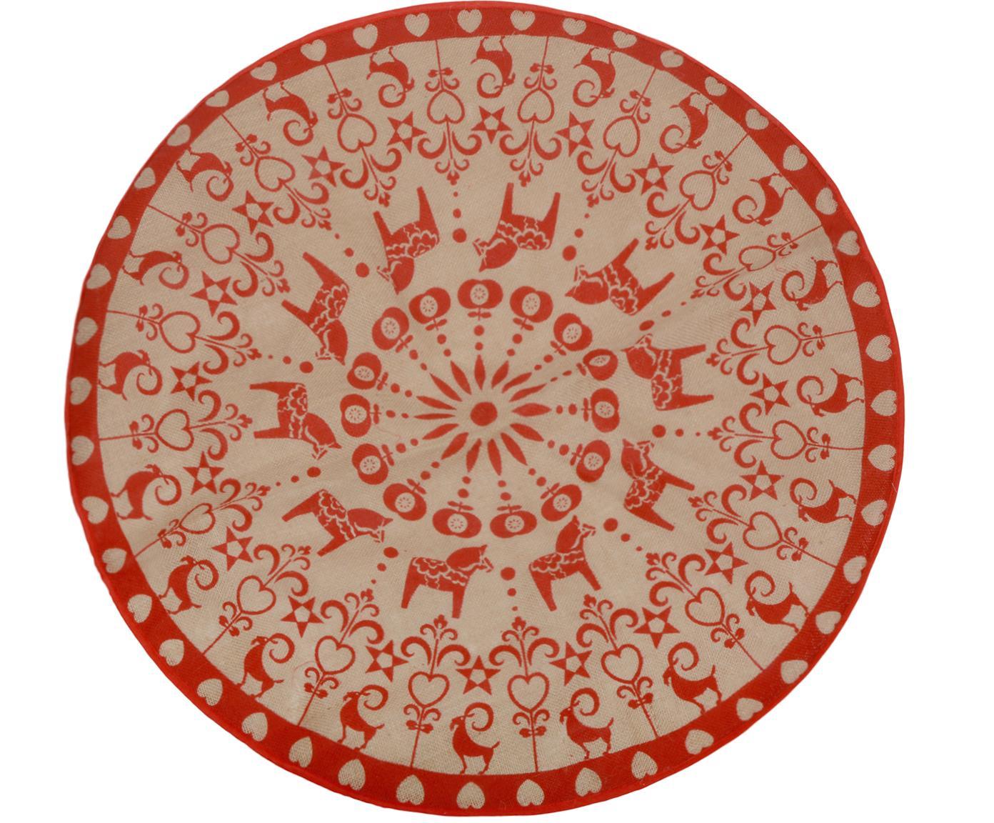 Base Árbol de Navidad Lily, Yute, Yute, rojo, Ø 100 cm