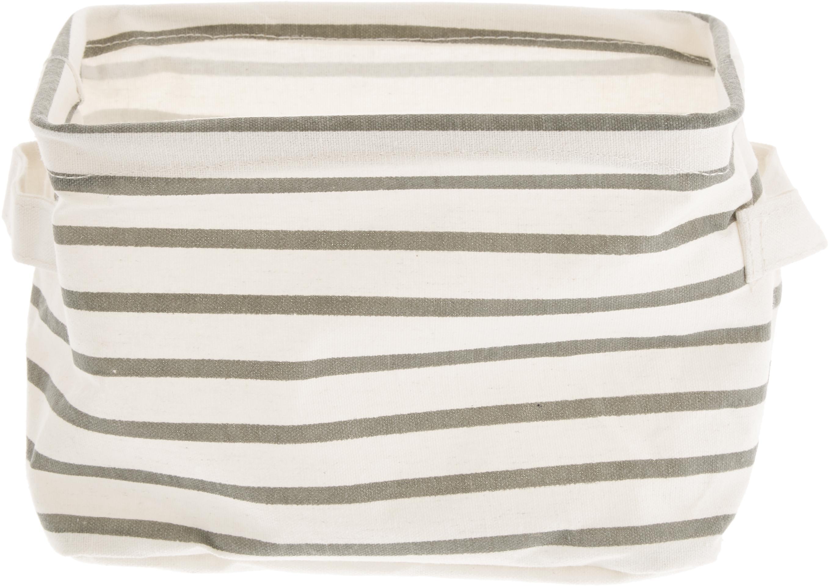 Aufbewahrungskörbe-Set Kia, 3-tlg., Gestell: Eisen, Bezug: Segeltuch, Grau, Weiß, Sondergrößen