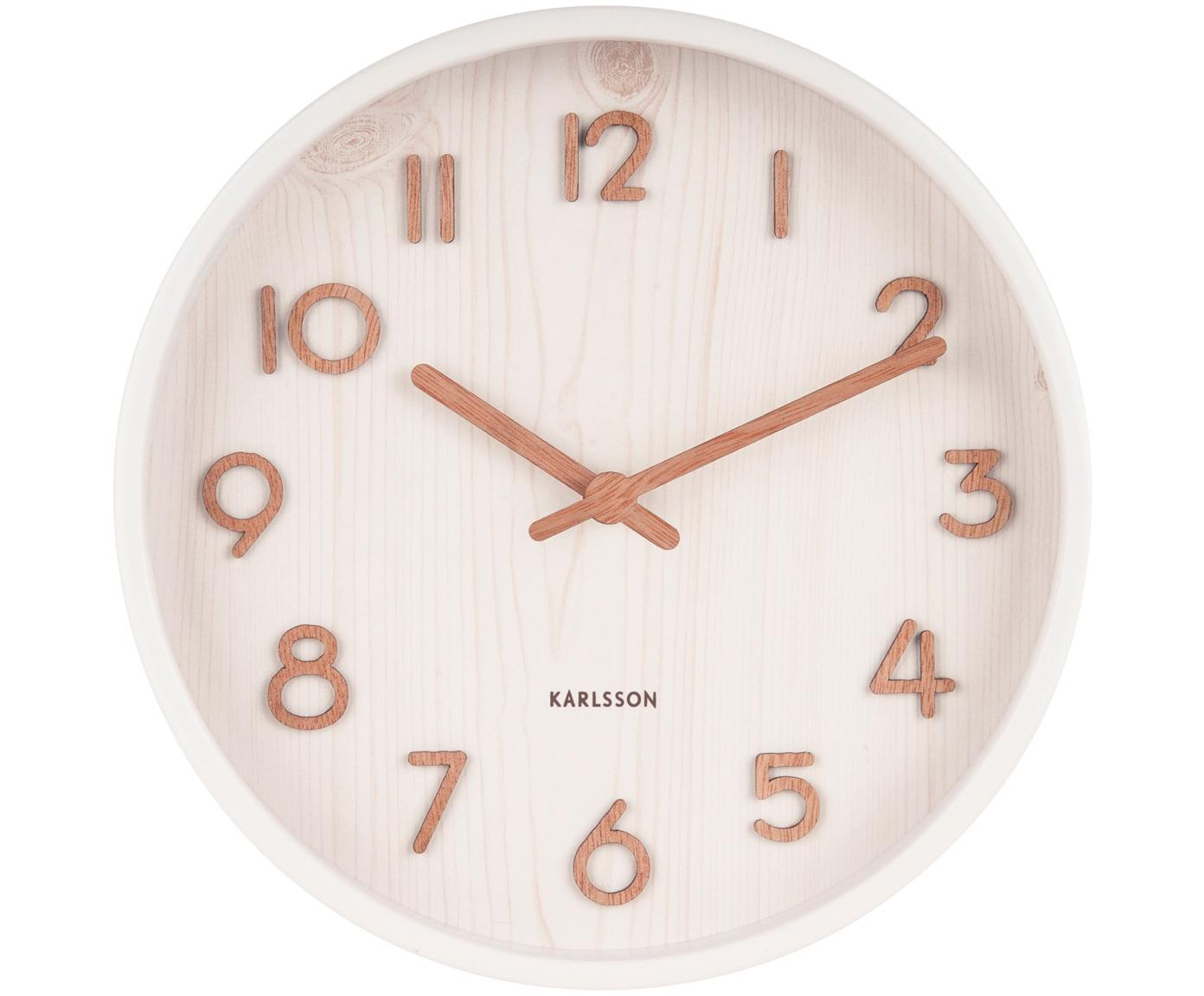 Reloj de pared Pure, Blanco, Ø 22 x F 5 cm
