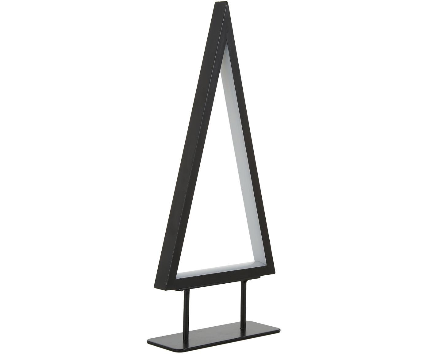 Oggetto luminoso a LED Ropelight, Struttura: metallo verniciato, Nero, Larg. 16 x Alt. 36 cm