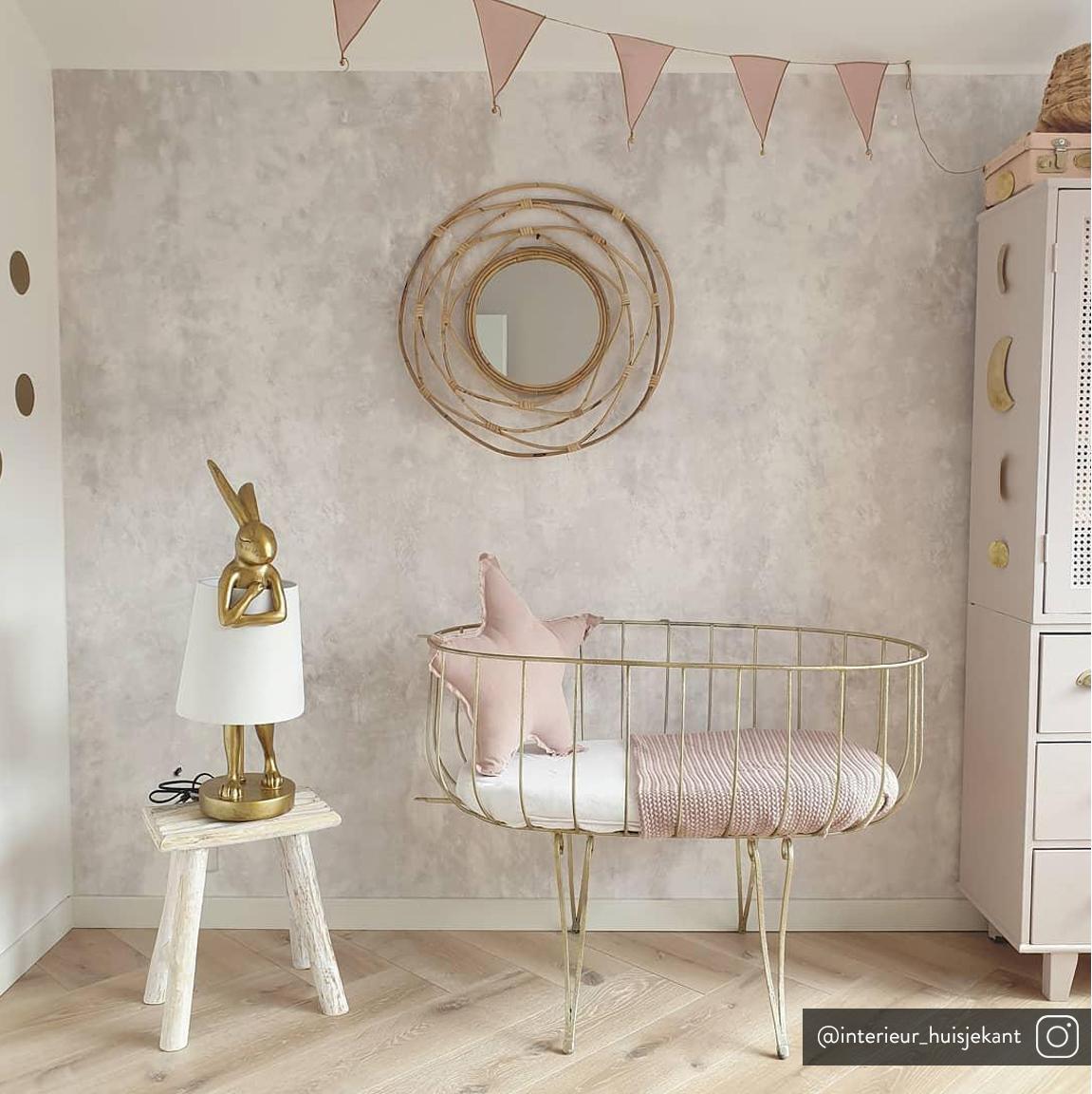 Lampe à poser design Rabbit, Blanc, couleur dorée