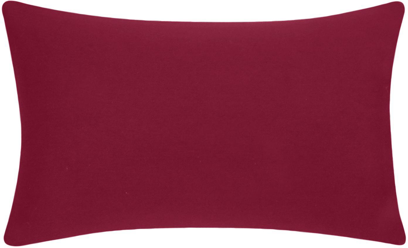 Katoenen kussenhoes Mads in rood, 100% katoen, Rood, 30 x 50 cm