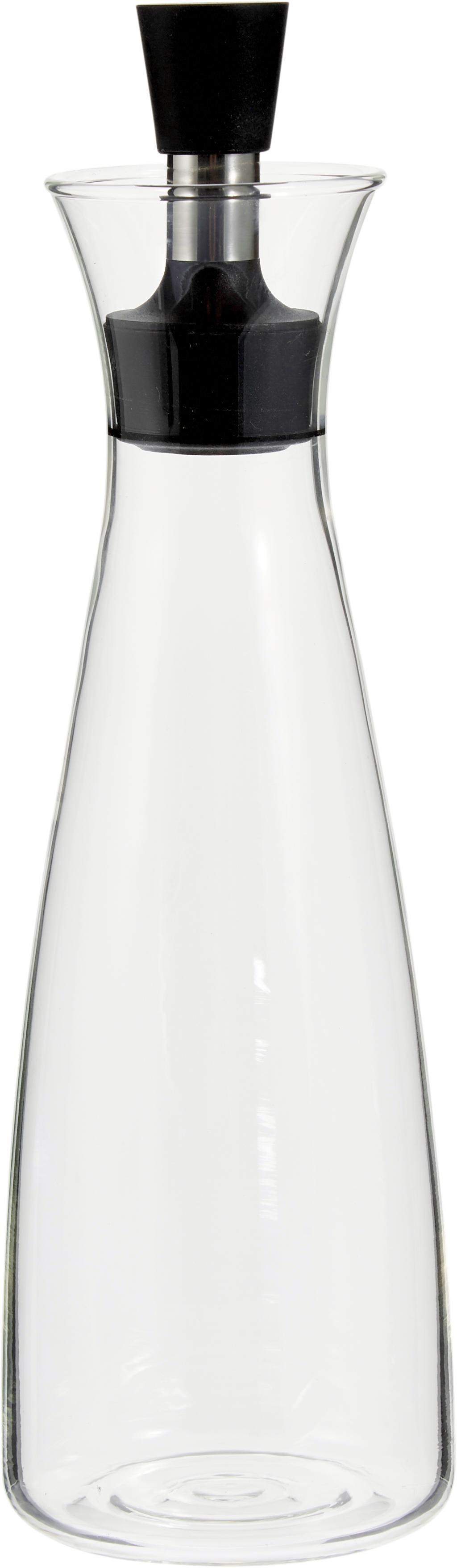 Oliera di design Eva Solo, Vetro, acciaio inossidabile, materiale sintetico, Trasparente, nero, acciaio inossidabile, 0.5 l