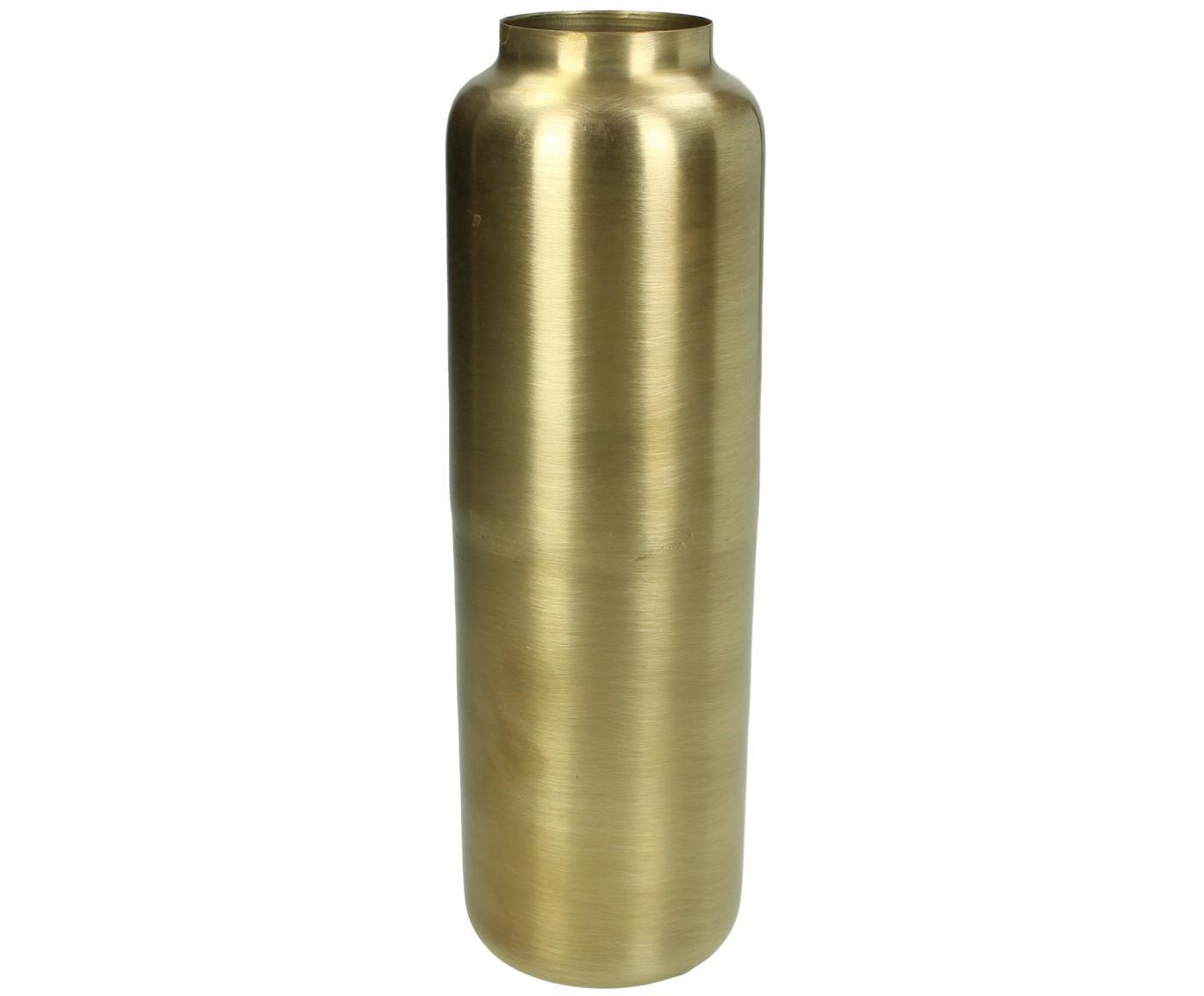 Vaso in metallo Blackwater, Metallo rivestito, Ottonato, Ø 9 x Alt. 26 cm