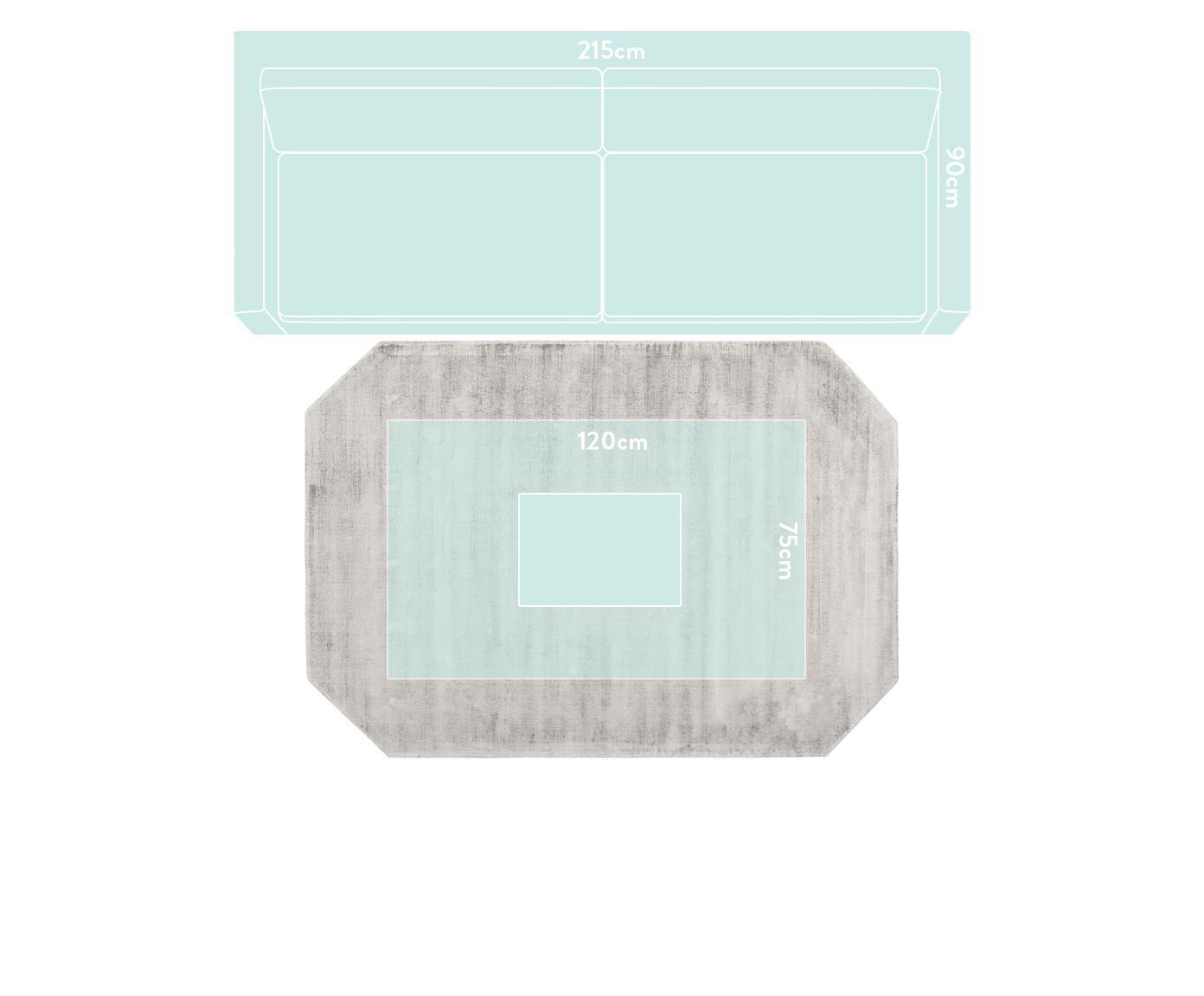 Tappeto in viscosa Jane Diamond, Retro: 100% cotone, Grigio chiaro-beige, Larg. 200 x Lung. 300 cm (taglia L)