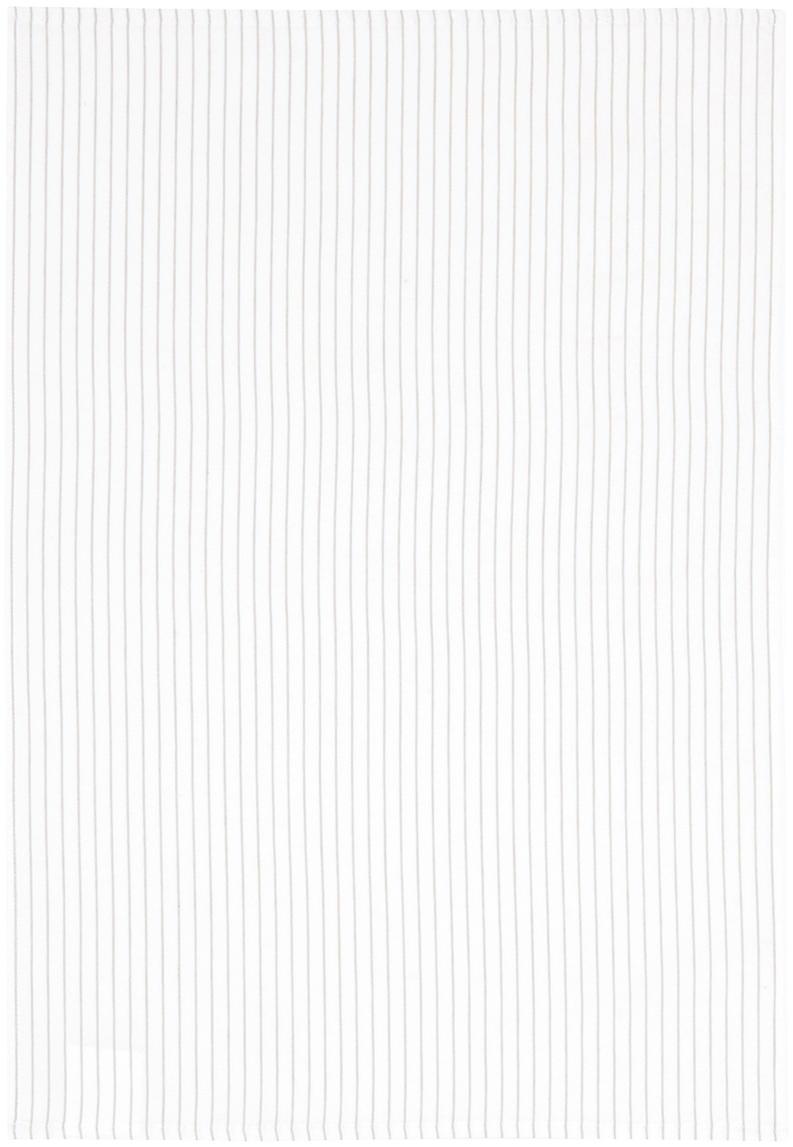 Theedoeken Nicole, 2 stuks, Katoen, Wit, beige, 50 x 70 cm