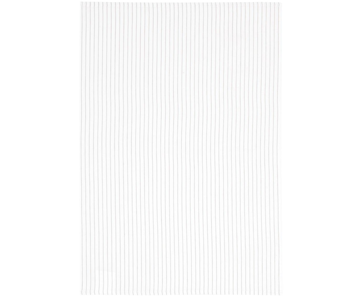 Geschirrtücher Nicole, 2 Stück, Baumwolle, Weiss, Beige, 50 x 70 cm