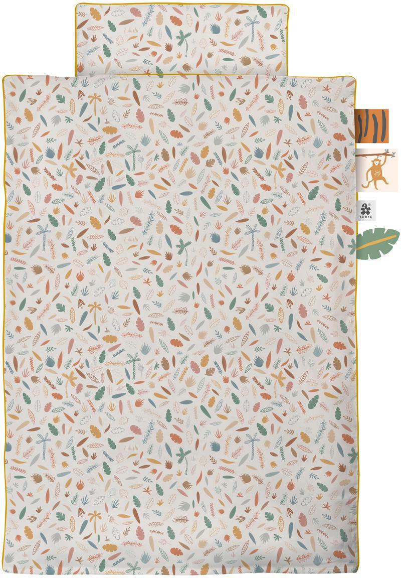Set copripiumino in jersey Junior Wildlife 2 pz, Multicolore, 100 x 135 cm